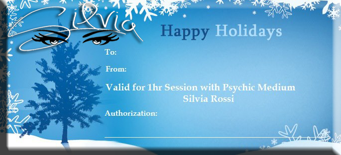 A wonderful gift idea, a reading with Silvia Rossi.